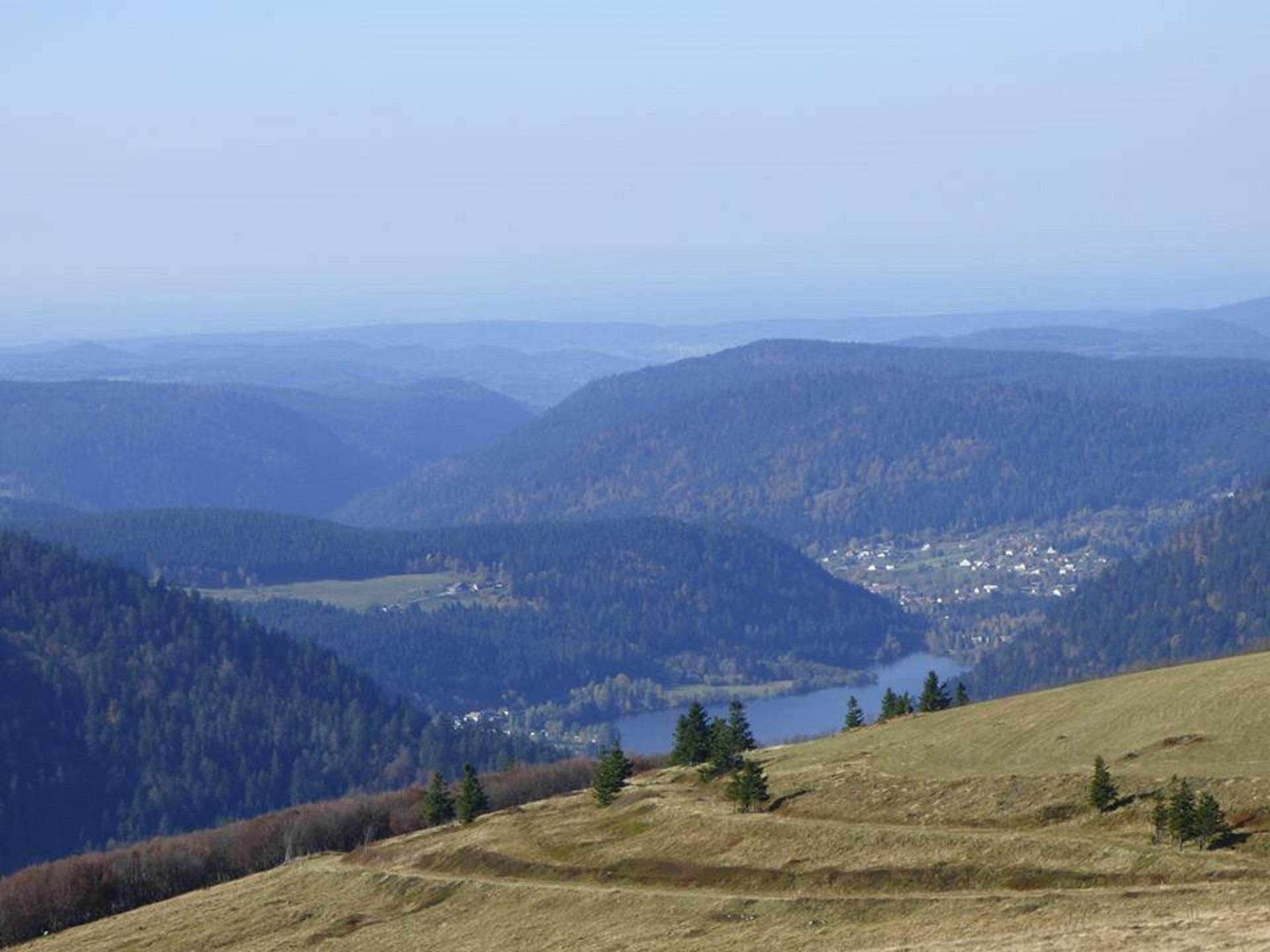Vue du sommet du Hohneck (lac Longemer)